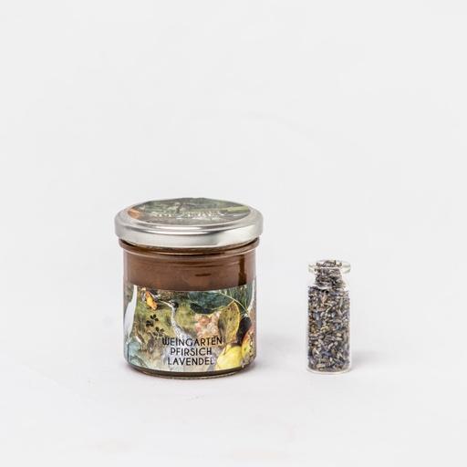 Fruchtaufstrich Weingartenpfirsich-Lavendel